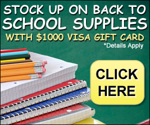 $1000 GiftCard for Back To School Shopping
